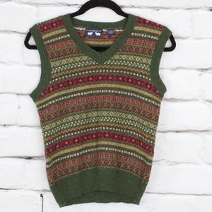 Woods & Gray Lambswool Sweater Vest Size L